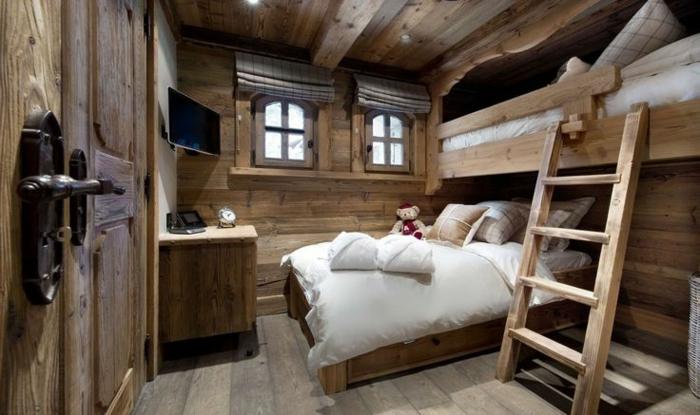 Quel type d int rieur pour votre chalet en bois habitable for Chambre rustique