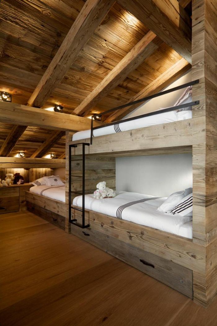 Mur Interieur En Bois Chalet : en-bois-massif-sol-en-bois-lit-en-bois-massif-chalet-habitable-en-bois