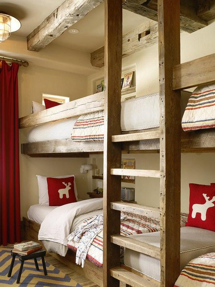 chambre-d-enfant-avec-lit-enfant-sureleve-en-bois-massif-chambre-design-intérieur