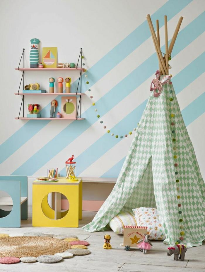chambre-d-enfant-de-couleur-pastel-mur-bleu-blanc-pastel-dessin-chambre-bébé