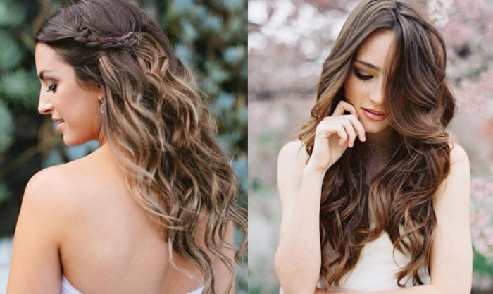 Les cheveux ondul s comment les obtenir - Coiffure mariage tresse sur le cote ...