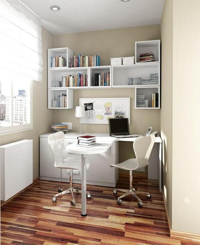 coin-de-travail-confortable-avec-une-jolie-table-rabattable-en-bois-blanc