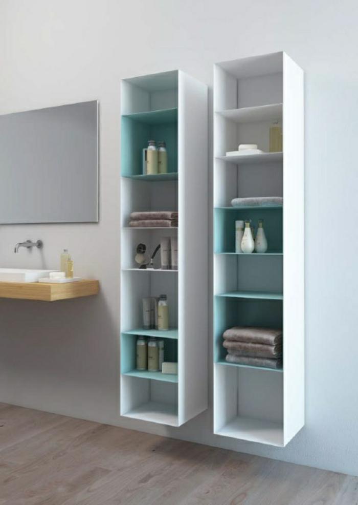 Le meuble colonne en 45 photos qui vont vous inspirer for Rangement produits salle de bain