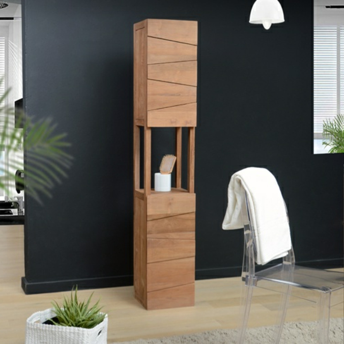 le meuble colonne en 45 photos qui vont vous inspirer. Black Bedroom Furniture Sets. Home Design Ideas