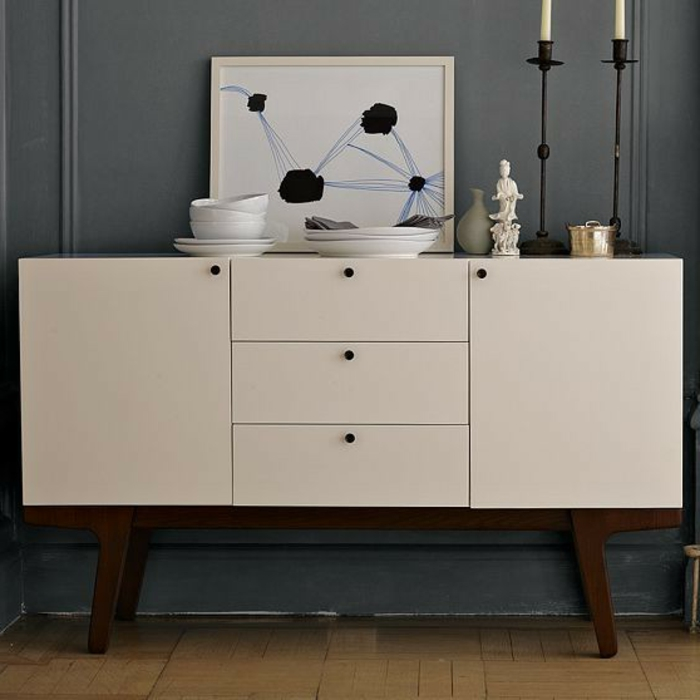 Mettez une commode blanche pour plus de charme la maison - Commode plusieurs tiroirs ...