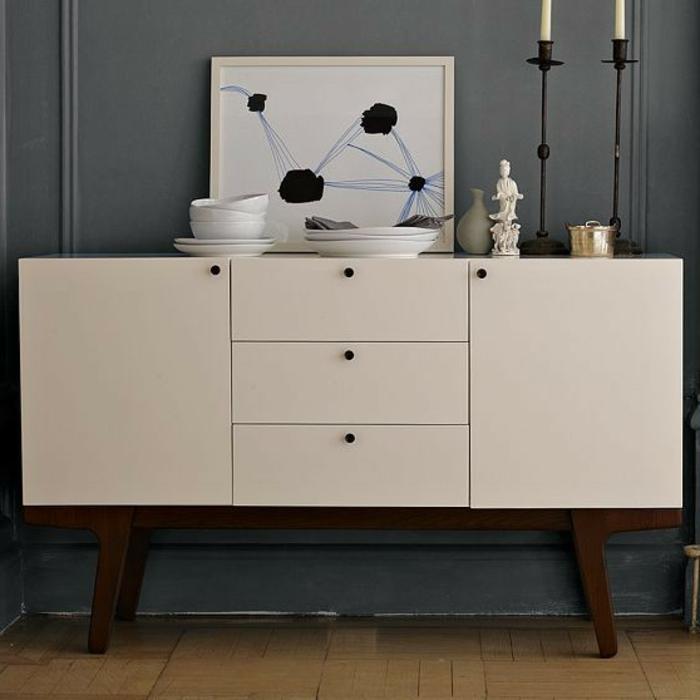 commode-blanche-avec-tiroirs-placard-original
