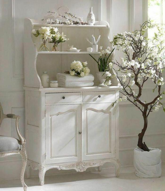 commode-blanche-baroque-avec-étagères