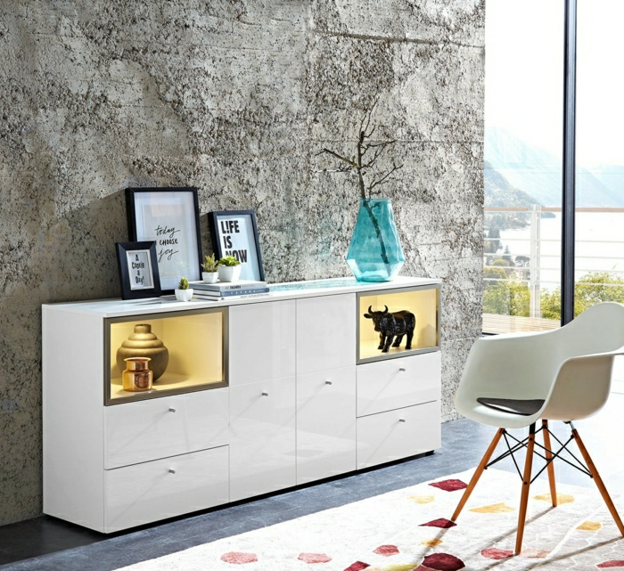 commode-blanche-buffet-moderne-chaise-scandinave