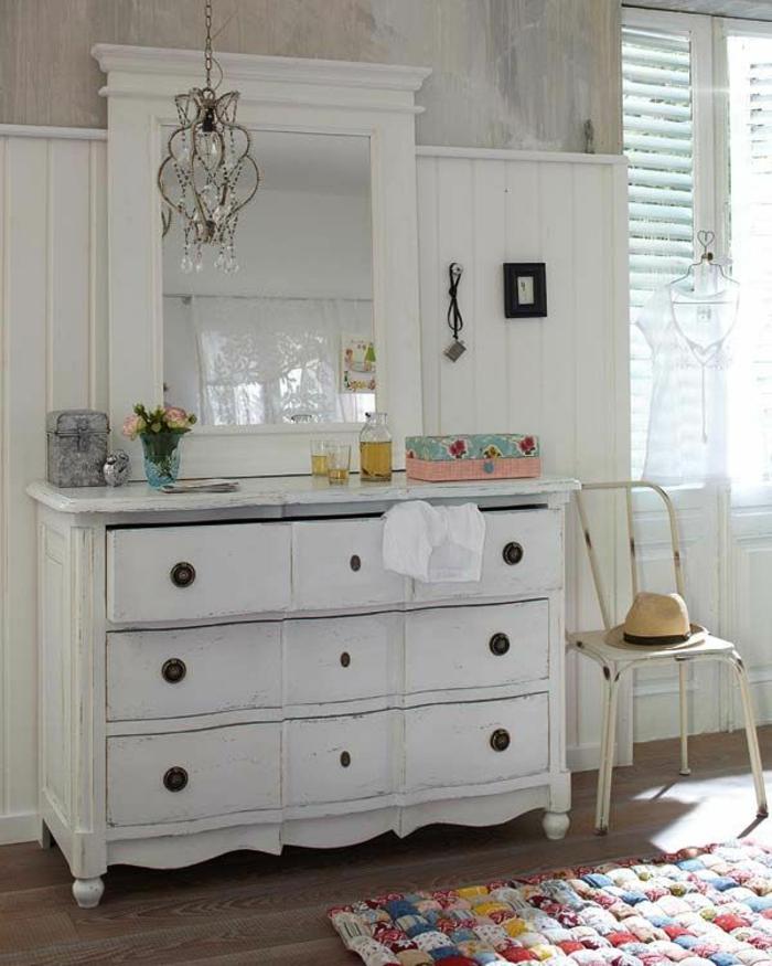 Chambre Verte Zen : Mettez une commode blanche pour plus de charme à la maison