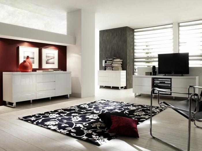 commode-blanche-design-pour-la-salle-de-séjour