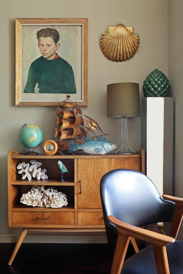 commode-en-bois-commode-en-bois-massif-et-décoration-à-thème-marin
