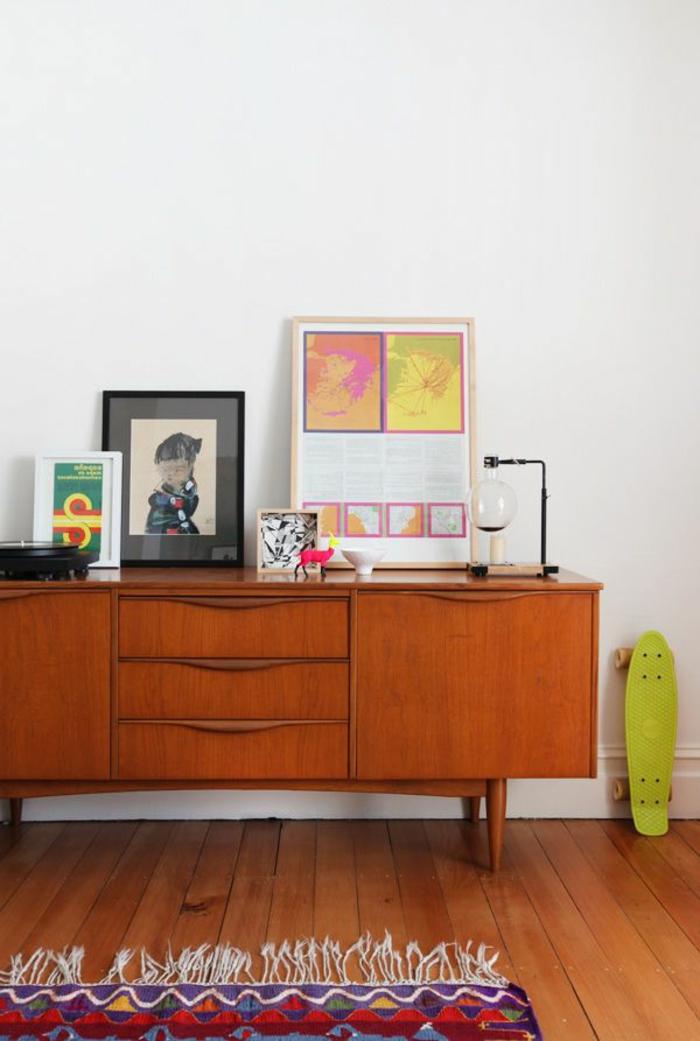 commode-en-bois-décoration-carpette