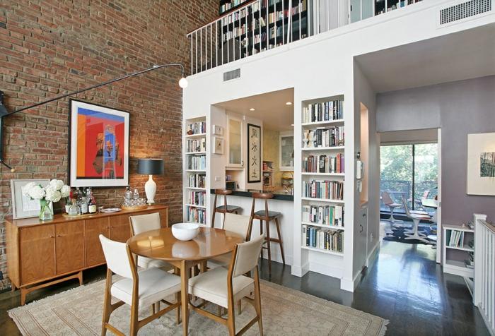 commode-en-bois-loft-moderne-mur-briques