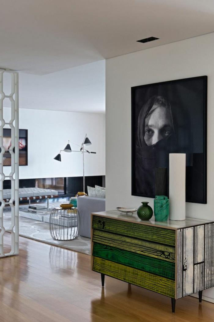 commode-en-bois-peinte-verte-poster-photographie-murale