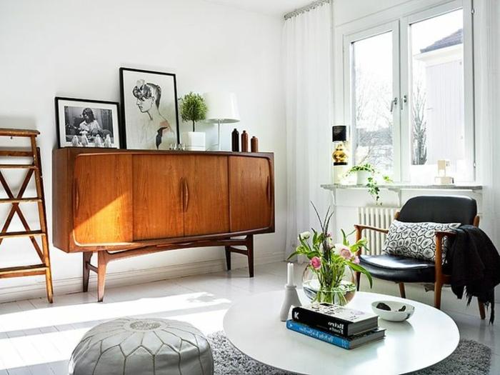 commode-en-bois-vintage-salle-de-séjour