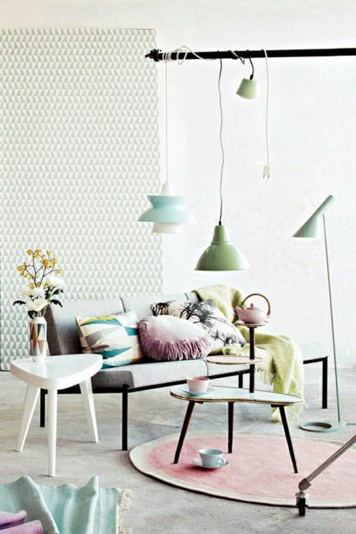 Adopter la couleur pastel pour la maison for Salon pastel