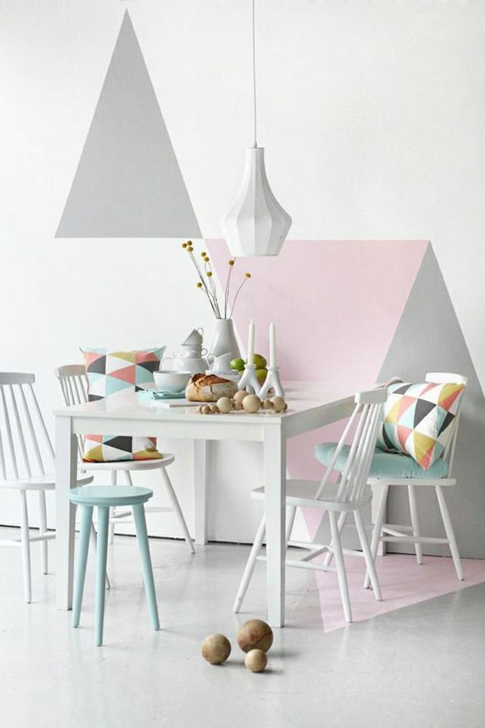 couleurs-pastels-cuisine-dessin-pastel-table-blanche-en-bois-sol-en-lin-beige-chaise