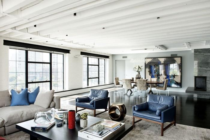 creative-deco-loft-new-yorkais-cool-idées-chambre-vaste-salon-salle-a-manger