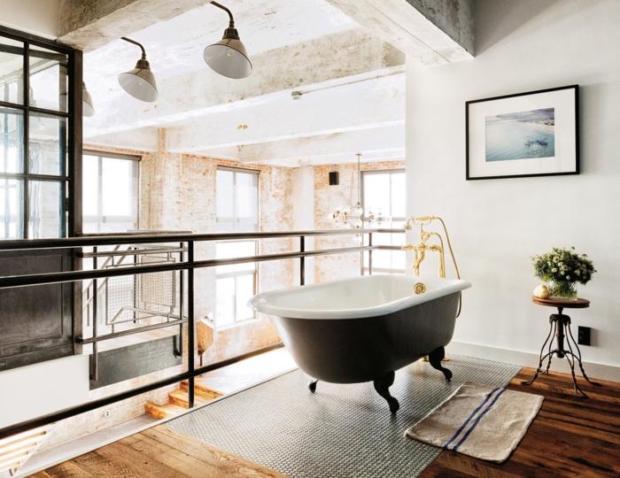 creative-deco-loft-new-yorkais-cool-idées-salle-de-bain