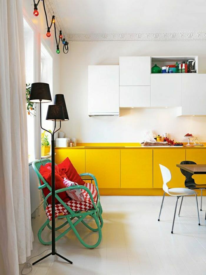 Choisir quelle couleur pour une cuisine for Meuble cuisine jaune