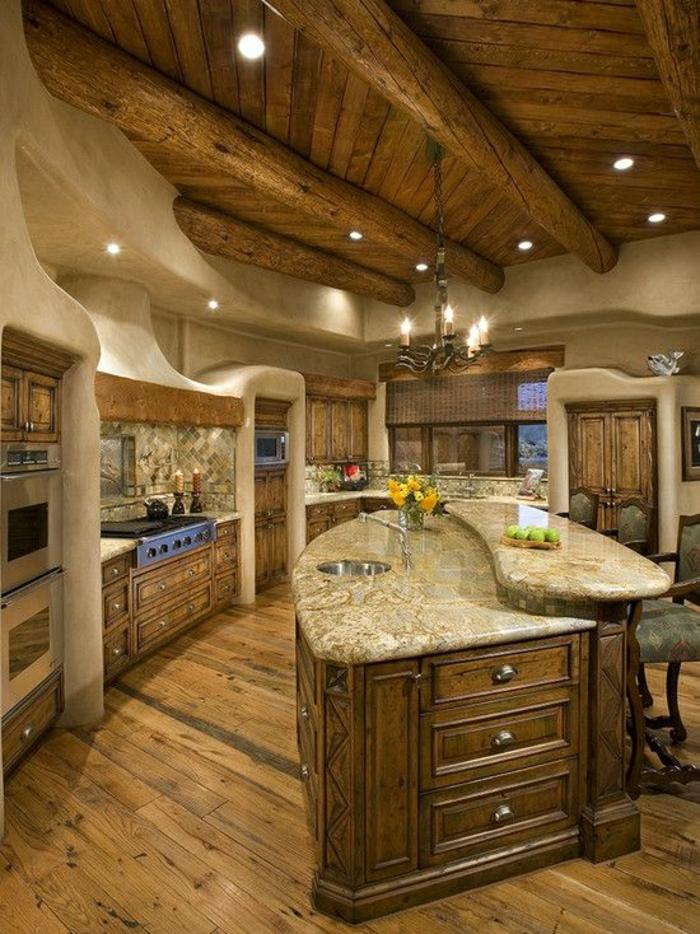 cuisine-couleur-taupe-sol-en-parquet-massif-meubles-en-bois-cuisine