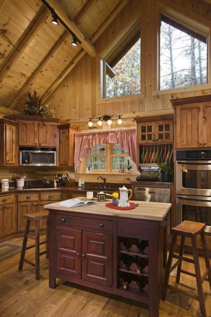 cuisine-en-bois-massif-cuisine-plan-de-travail-bois-massif-meubles-en-bois-foncé