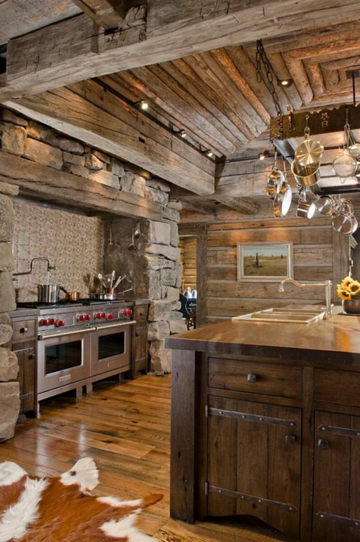 La cuisine en bois massif en beaucoup de photos - Renover une cuisine rustique en moderne ...