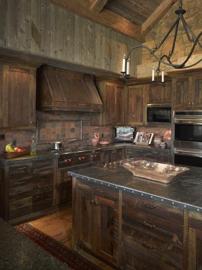 La cuisine en bois massif en beaucoup de photos - Caisson cuisine bois massif ...