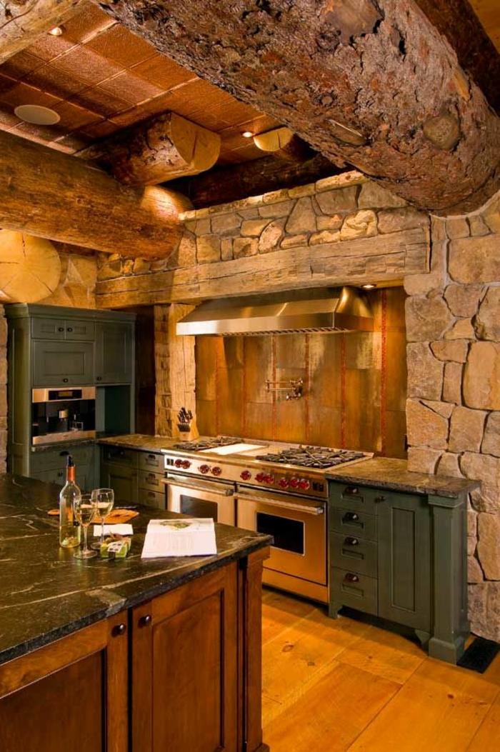 la cuisine en bois massif en beaucoup de photos. Black Bedroom Furniture Sets. Home Design Ideas