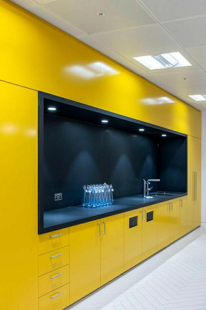 Best meuble de cuisine jaune contemporary design trends - Quelle couleur choisir pour une cuisine ...