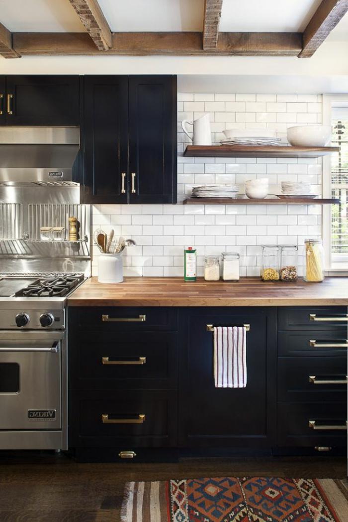 Cuisine moderne en bois massif 20170714195141 for Meuble de cuisine en bois massif
