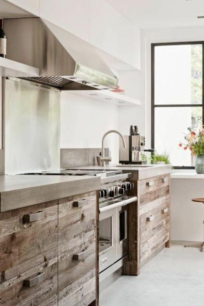 La cuisine en bois massif en beaucoup de photos - Cuisine en chene massif moderne ...