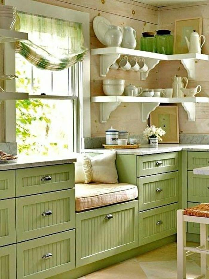 cuisine-verte-idée-couleur-cuisine-meubles-de-cuisine-carrelage-meubles-verts