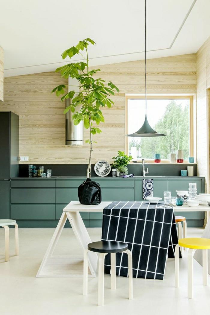 cuisine-verte-meubles-de-cuisine-verte-idée-couleur-cuisine ...
