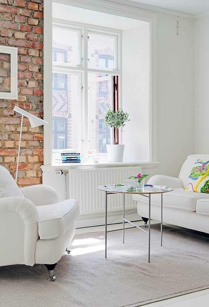 décoration-salon-moderne-idée-originale-mur-en-briques