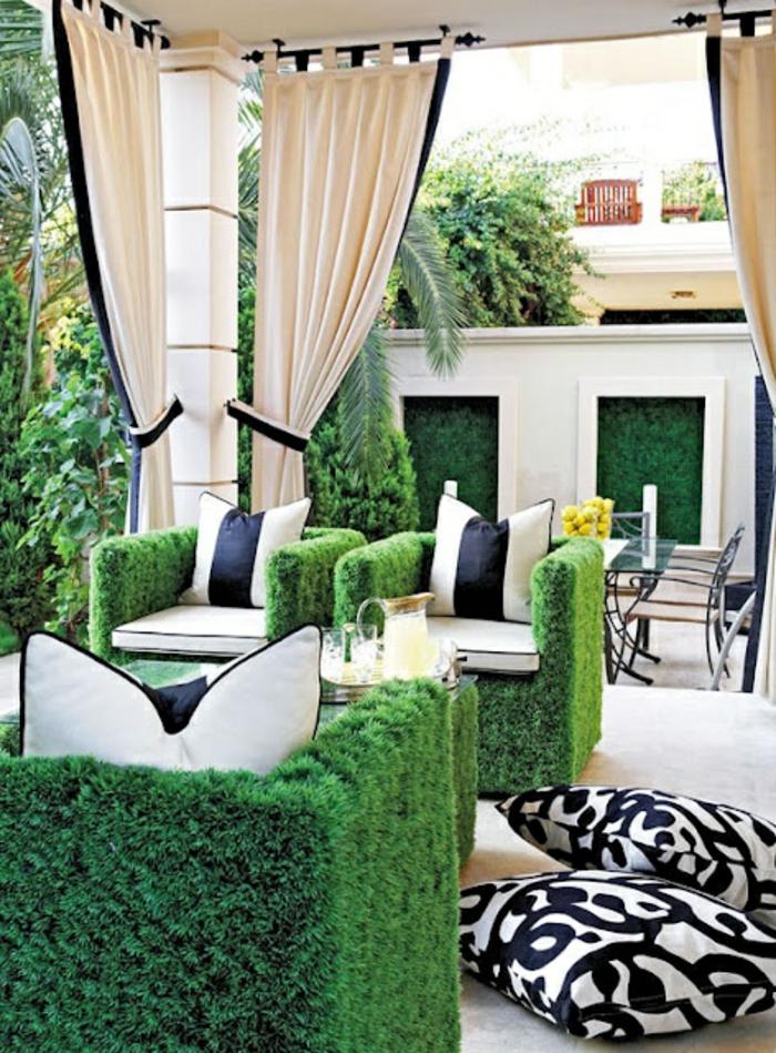 décorer-les-canapés-de-jardin-avec-faux-gazon-une-idée-magnifique-fasse-pelouse