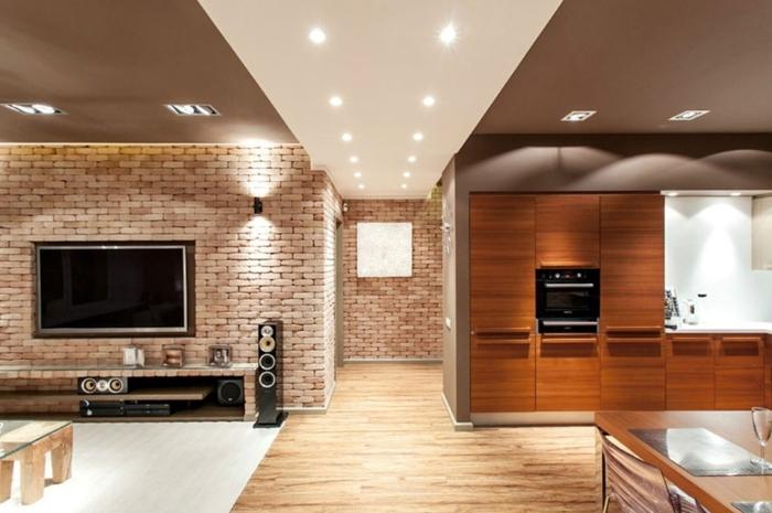 deco-loft-new-yorkais-idée-créative-tv-salon-cuisine-moderne