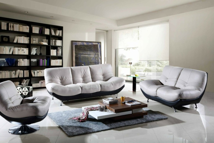 deco-sejour-salle-aménagement-son-salon-sofa-bibliotheque