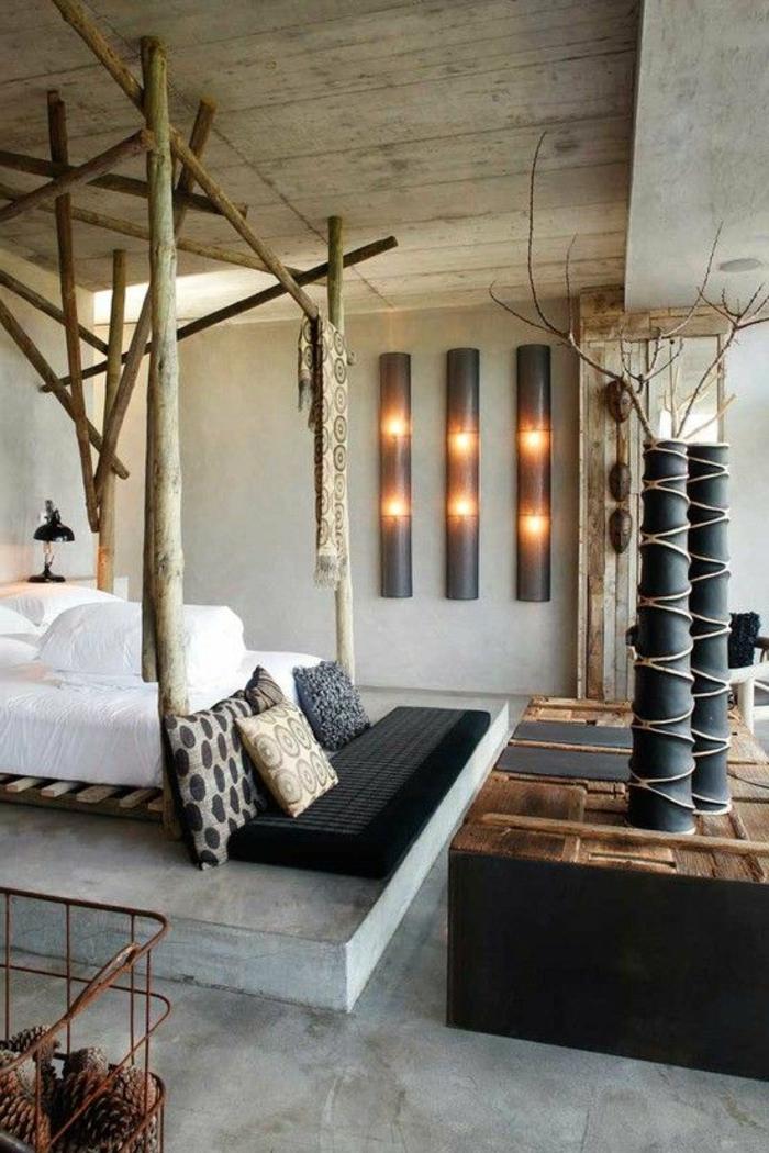 decoration-chambre-idée-stylé-déco-chambre-adulte-rustique