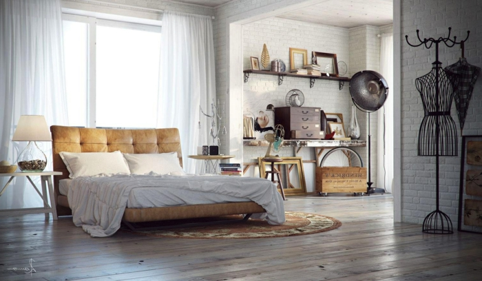 des-meubles-style-industriel-idée-créative-chambre-à-coucher
