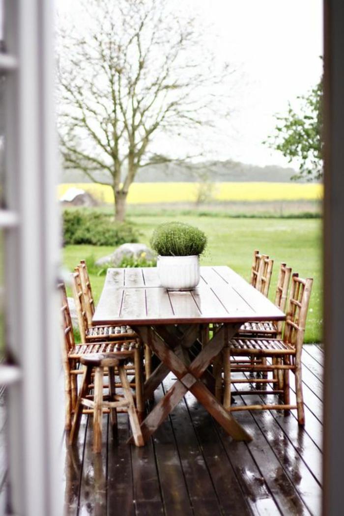 Comment choisir une table et chaises de jardin for Ensemble jardin bois
