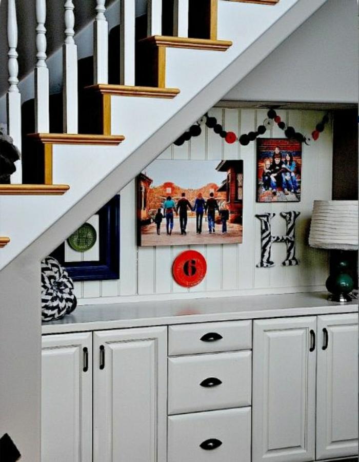 Quel meuble sous escalier choisir for Meuble a tiroir sous bureau
