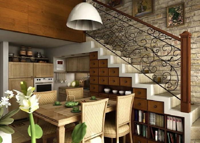 etagere-escalier-ikea-escalier-rangement-dressing-sous-escalier-fleurs