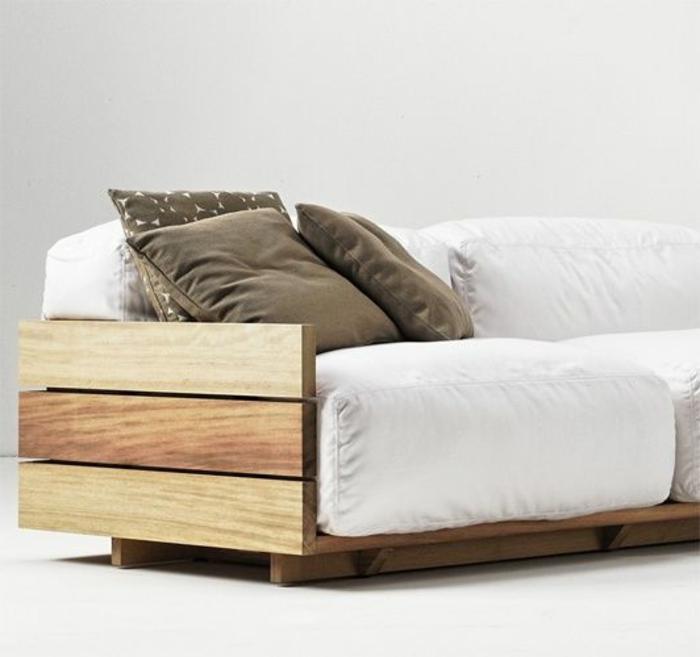 Fabriquer meuble tv en palette - Fabriquer un canape en bois ...