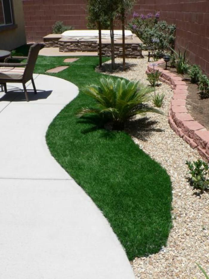 fasse-pelouse-pour-le-jardin-décoration-de-jardin-cailloux-blancs-jardin