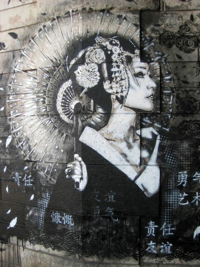 femme-asiatique-artistique-pochoir-street-art-tableau-geisha