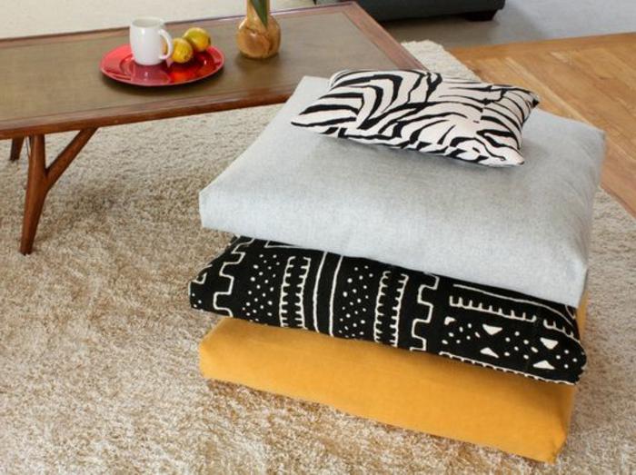 galette-de-chaise-pas-cher-design-ikea-galette-de-chaise-déhoussable-tapis-beige
