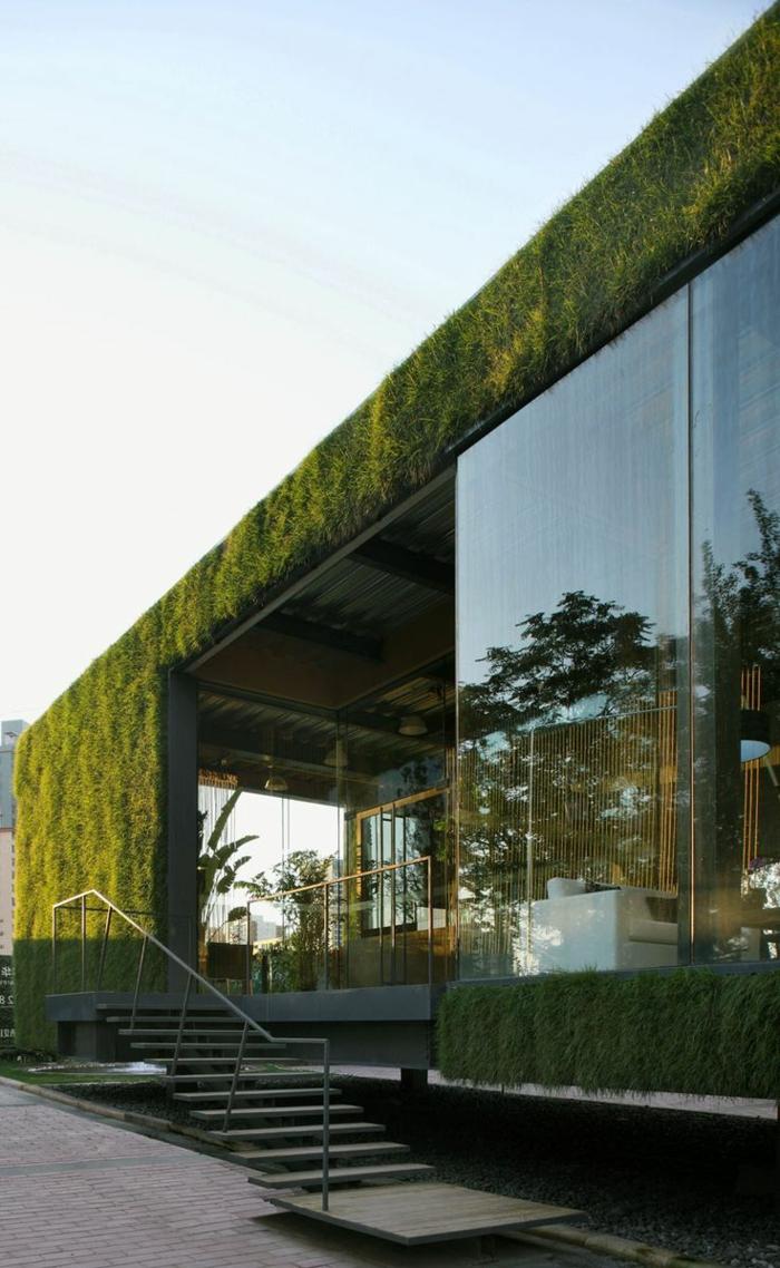 gazon-synthétique-extérieur-de-la-maison-avec-murs-de-faux-gazon-fasse-pelouse