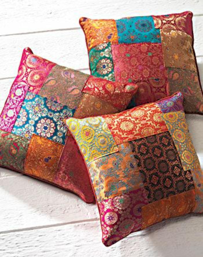 Cr ez votre housse de coussin originale for Housse de coussin patchwork