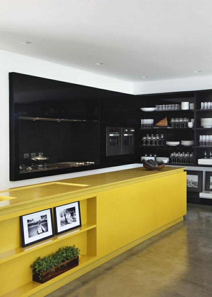 idée-couleur-cuisine-jaune-noir-meubles-de-cuisine-modernes-jaune-noir-cuisine-elegante
